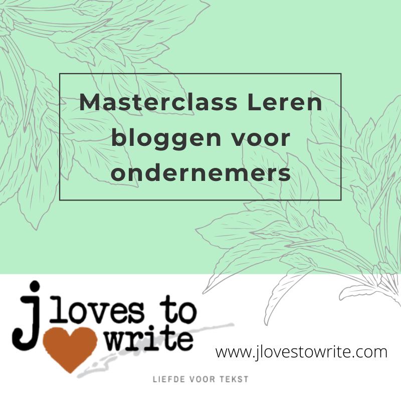 Masterclass Leren bloggen voor ondernemers