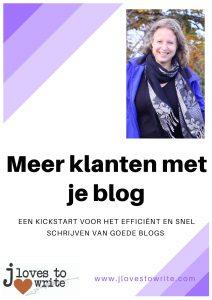 Cover E-book Meer klanten met je blog