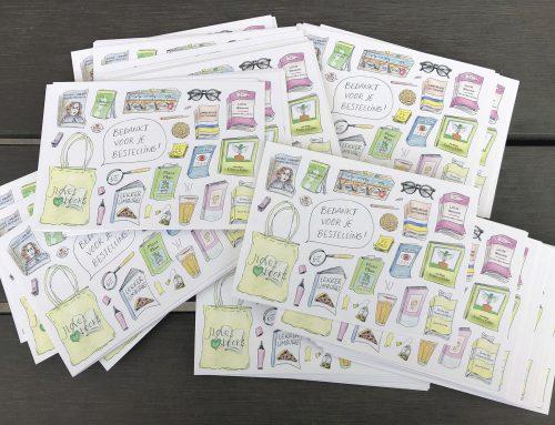 Persoonlijke bedankt-kaarten voor J Loves Books